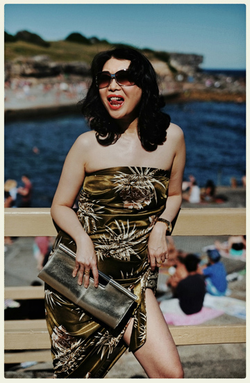 Summer High Fashion by the sea at Clovelly Beach, Sydney Australia by Kent Johnson and Vivienne Shui