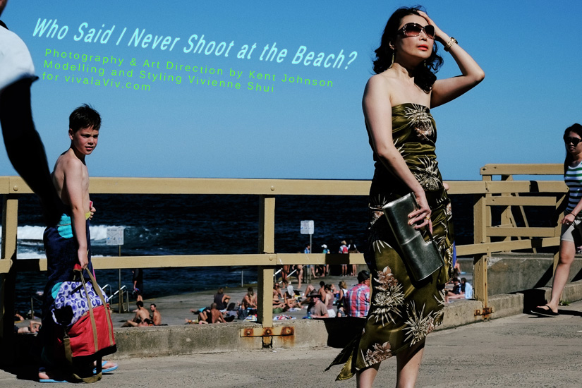 Who said I never shoot at the beach? Lifestyle and High Fashion at Clovelly Beach by Kent Johnson and Vivienne Shui.